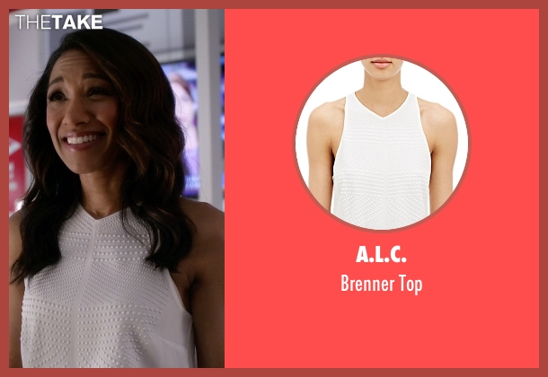 A.L.C. white top from The Flash seen with Iris West / Iris West-Allen (Candice Patton)