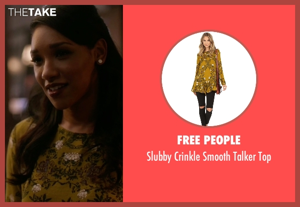 Free People yellow top from The Flash seen with Iris West / Iris West-Allen (Candice Patton)