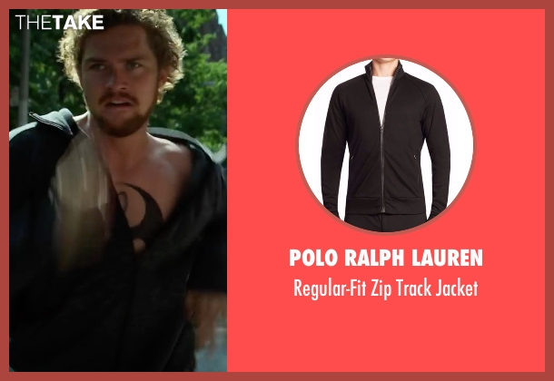 Polo Ralph Lauren black jacket from Marvel's Iron Fist seen with Iron Fist / Danny Rand (Finn Jones)