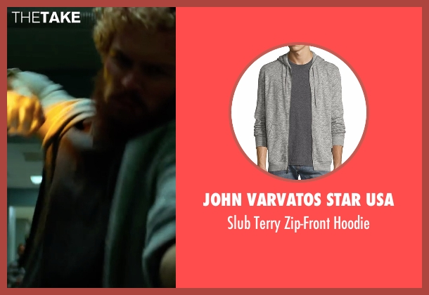 Vince gray hoodie from Marvel's Iron Fist seen with Iron Fist / Danny Rand (Finn Jones)