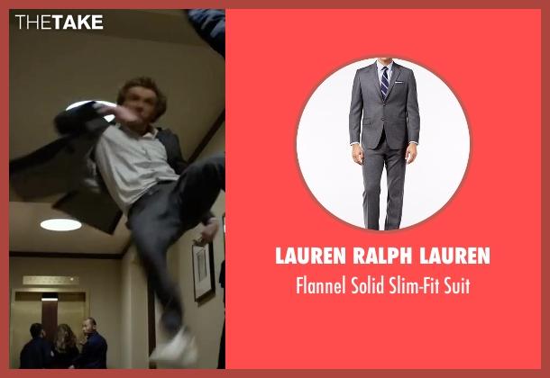 Lauren Ralph Lauren gray suit from Marvel's Iron Fist seen with Iron Fist / Danny Rand (Finn Jones)