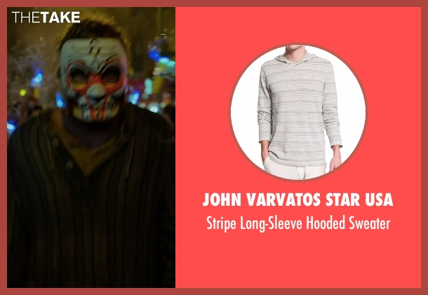 John Varvatos Star USA gray sweater from Marvel's Iron Fist seen with Iron Fist / Danny Rand (Finn Jones)