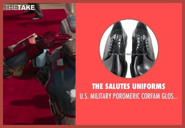 The salutes uniforms black shoes from Iron Man 3