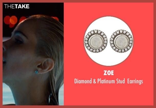 Zoe silver earrings from The Loft seen with Isabel Lucas (Sarah Deakins)