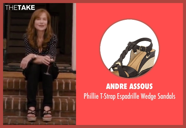 Andre Assous black sandals from The Disappearance of Eleanor Rigby seen with Isabelle Huppert (Mary Rigby)