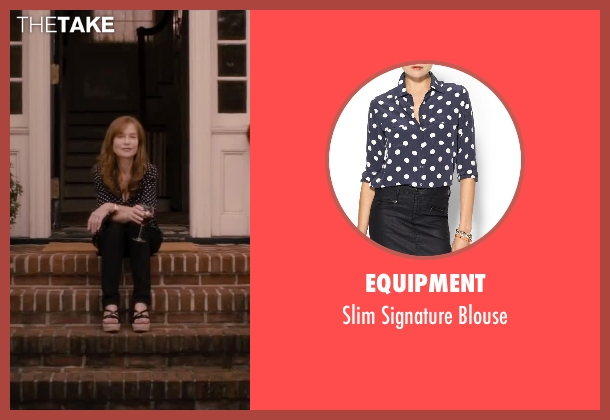 Equipment blue blouse from The Disappearance of Eleanor Rigby seen with Isabelle Huppert (Mary Rigby)