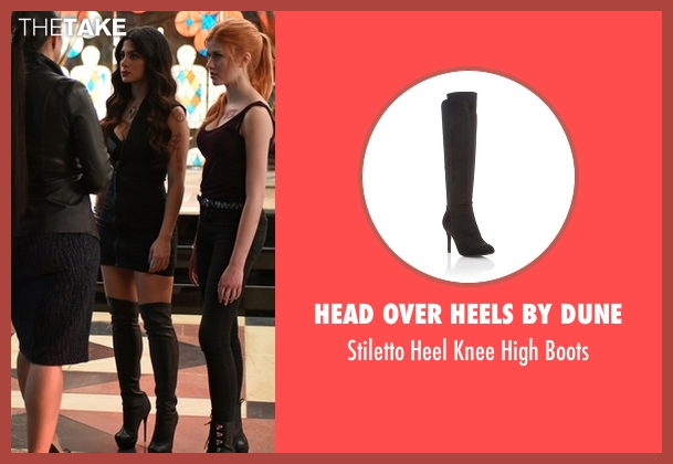 Head Over Heels by Dune black boots from Shadowhunters seen with Isabelle Lightwood (Emeraude Toubia)