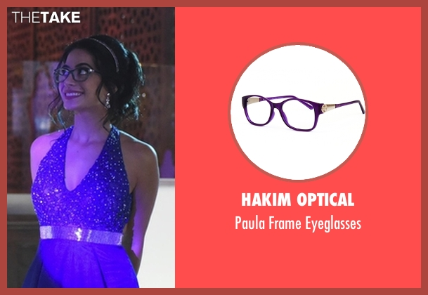 Hakim Optical purple eyeglasses from Shadowhunters seen with Isabelle Lightwood (Emeraude Toubia)