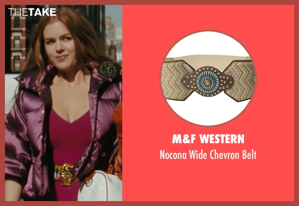 M&F Western belt from Confessions of a Shopaholic seen with Isla Fisher (Rebecca Bloomwood)