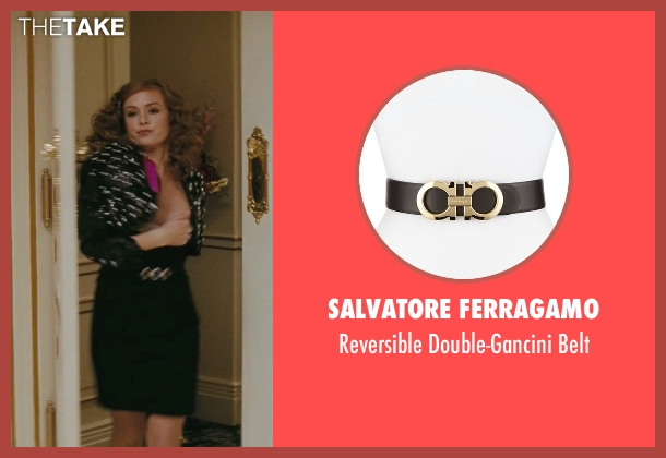 Salvatore Ferragamo black belt from Confessions of a Shopaholic seen with Isla Fisher (Rebecca Bloomwood)