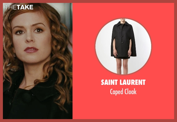 Saint Laurent black cloak from Confessions of a Shopaholic seen with Isla Fisher (Rebecca Bloomwood)
