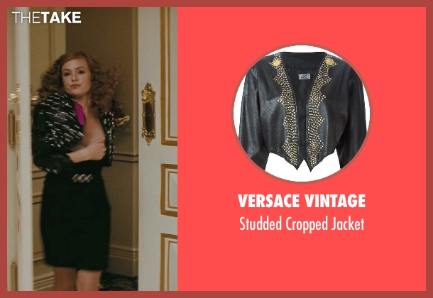 Versace Vintage black jacket from Confessions of a Shopaholic seen with Isla Fisher (Rebecca Bloomwood)