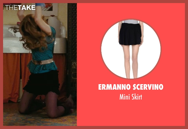 Ermanno Scervino black skirt from Confessions of a Shopaholic seen with Isla Fisher (Rebecca Bloomwood)