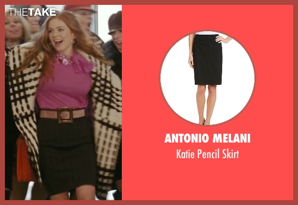 Antonio Melani black skirt from Confessions of a Shopaholic seen with Isla Fisher (Rebecca Bloomwood)