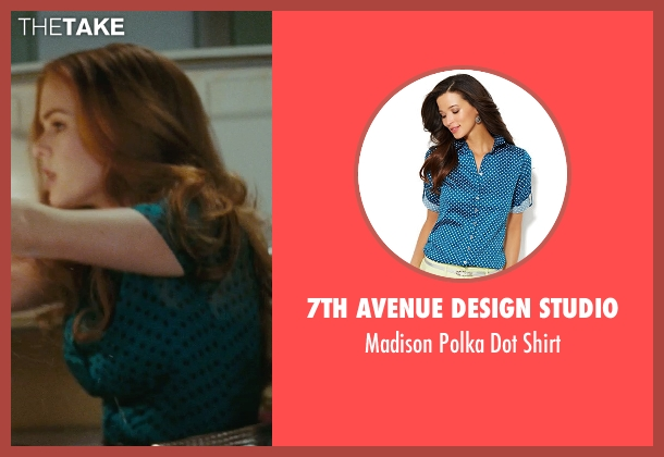 7th Avenue Design Studio blue shirt from Confessions of a Shopaholic seen with Isla Fisher (Rebecca Bloomwood)