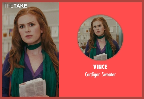 Vince blue sweater from Confessions of a Shopaholic seen with Isla Fisher (Rebecca Bloomwood)