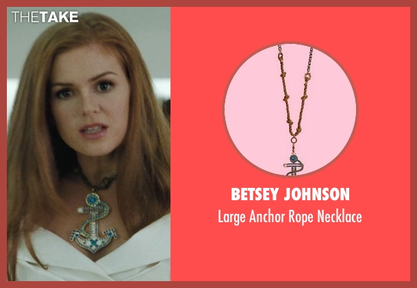 Betsey Johnson gold necklace from Confessions of a Shopaholic seen with Isla Fisher (Rebecca Bloomwood)