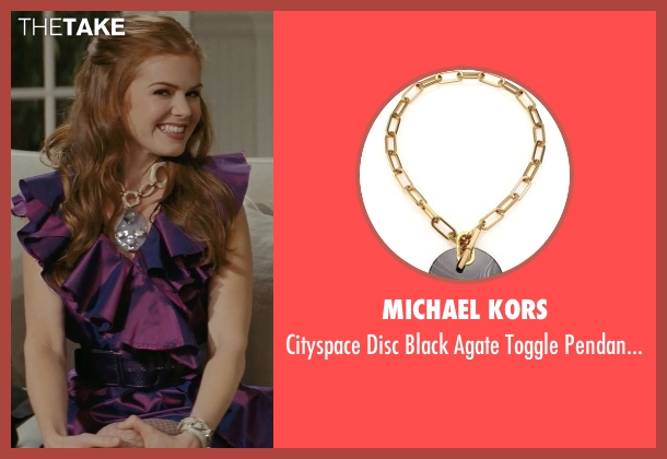 Michael Kors gold necklace from Confessions of a Shopaholic seen with Isla Fisher (Rebecca Bloomwood)