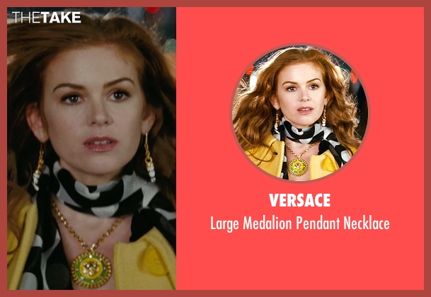 Versace gold necklace from Confessions of a Shopaholic seen with Isla Fisher (Rebecca Bloomwood)