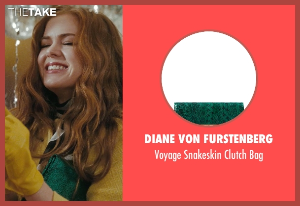 Diane Von Furstenberg green bag from Confessions of a Shopaholic seen with Isla Fisher (Rebecca Bloomwood)