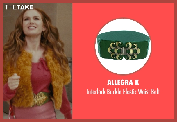 Allegra K green belt from Confessions of a Shopaholic seen with Isla Fisher (Rebecca Bloomwood)
