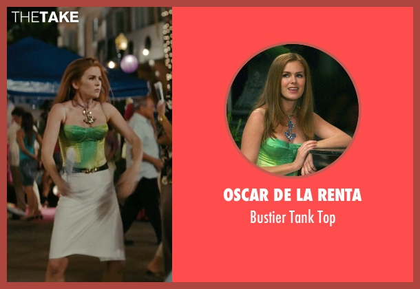 Oscar De La Renta green top from Confessions of a Shopaholic seen with Isla Fisher (Rebecca Bloomwood)