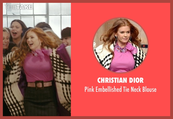 Christian Dior pink blouse from Confessions of a Shopaholic seen with Isla Fisher (Rebecca Bloomwood)