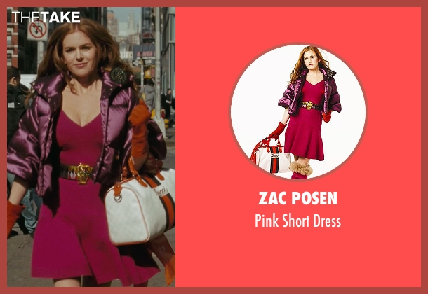 Zac Posen pink dress from Confessions of a Shopaholic seen with Isla Fisher (Rebecca Bloomwood)