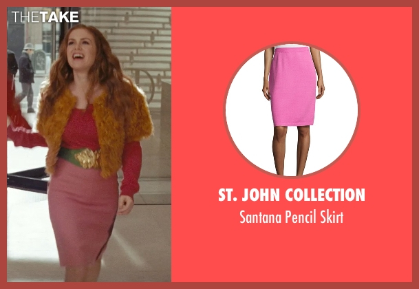 St. John Collection pink skirt from Confessions of a Shopaholic seen with Isla Fisher (Rebecca Bloomwood)