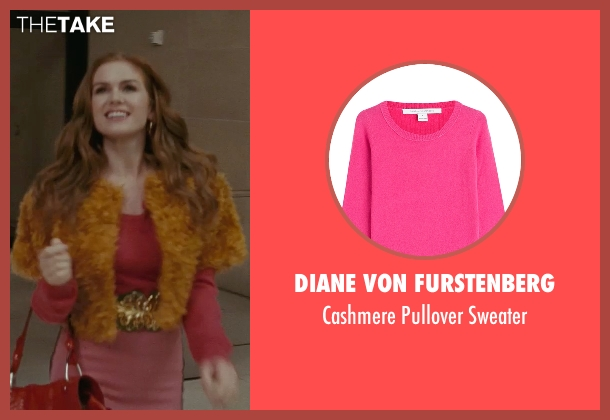 Diane Von Furstenberg pink sweater from Confessions of a Shopaholic seen with Isla Fisher (Rebecca Bloomwood)