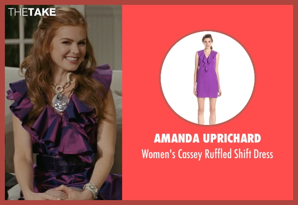 Amanda Uprichard purple dress from Confessions of a Shopaholic seen with Isla Fisher (Rebecca Bloomwood)