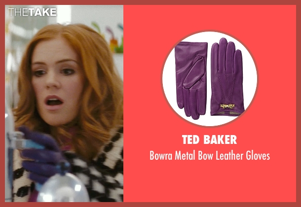 Ted Baker purple gloves from Confessions of a Shopaholic seen with Isla Fisher (Rebecca Bloomwood)