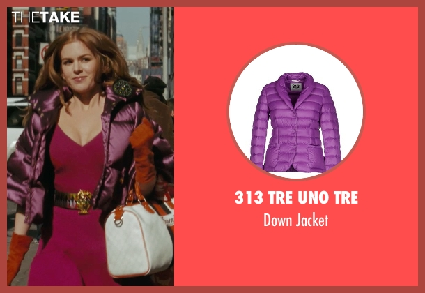 313 Tre Uno Tre purple jacket from Confessions of a Shopaholic seen with Isla Fisher (Rebecca Bloomwood)