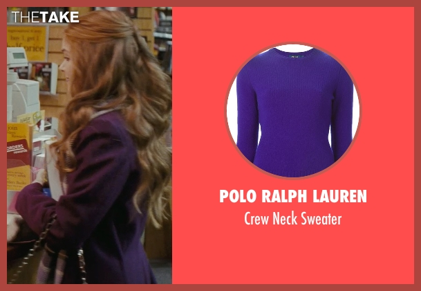 Polo Ralph Lauren purple sweater from Confessions of a Shopaholic seen with Isla Fisher (Rebecca Bloomwood)