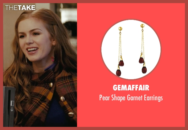 GemAffair red earrings from Confessions of a Shopaholic seen with Isla Fisher (Rebecca Bloomwood)