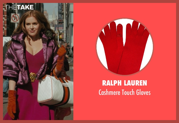 Ralph Lauren red gloves from Confessions of a Shopaholic seen with Isla Fisher (Rebecca Bloomwood)