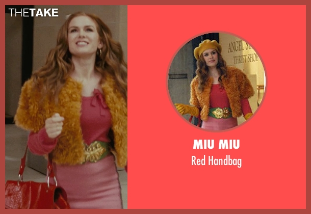 Miu Miu red handbag from Confessions of a Shopaholic seen with Isla Fisher (Rebecca Bloomwood)