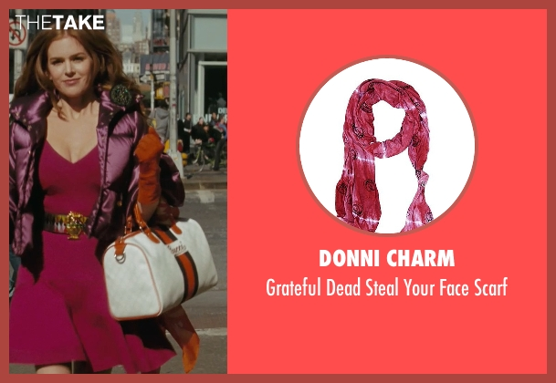 Donni Charm red scarf from Confessions of a Shopaholic seen with Isla Fisher (Rebecca Bloomwood)