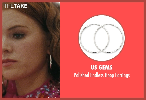 US Gems silver earrings from Confessions of a Shopaholic seen with Isla Fisher (Rebecca Bloomwood)