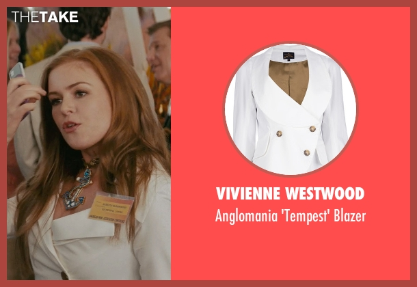 Vivienne Westwood white blazer from Confessions of a Shopaholic seen with Isla Fisher (Rebecca Bloomwood)