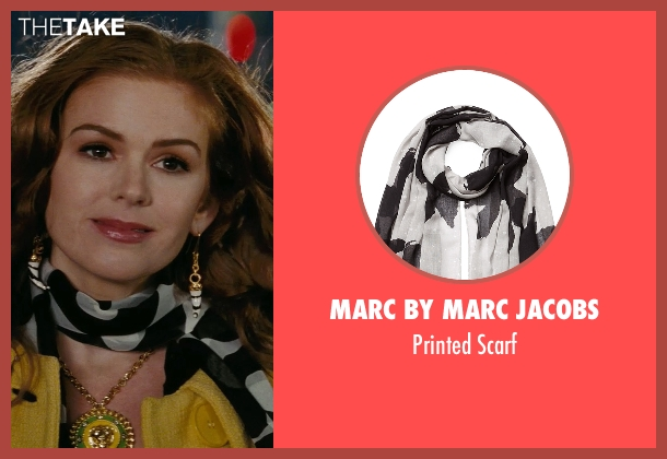 Marc By Marc Jacobs white scarf from Confessions of a Shopaholic seen with Isla Fisher (Rebecca Bloomwood)