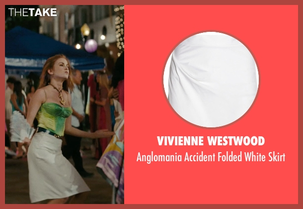 Vivienne Westwood white skirt from Confessions of a Shopaholic seen with Isla Fisher (Rebecca Bloomwood)