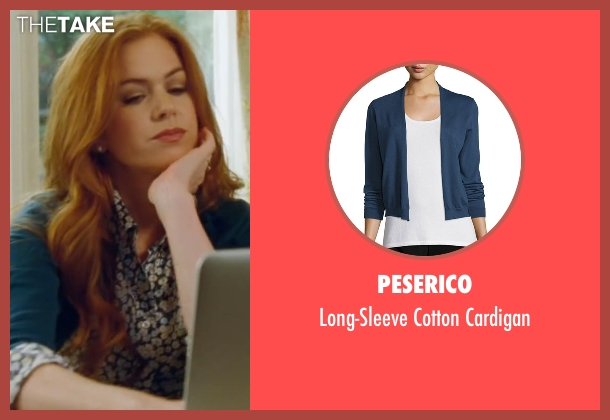 Peserico blue cardigan from Keeping Up with the Joneses seen with Isla Fisher (Karen Gaffney)