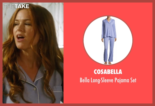 Cosabella blue set from Keeping Up with the Joneses seen with Isla Fisher (Karen Gaffney)