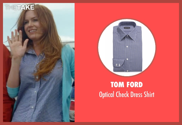 Tom Ford blue shirt from Keeping Up with the Joneses seen with Isla Fisher (Karen Gaffney)