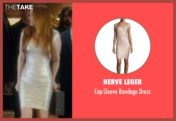 Herve Leger white dress from Keeping Up with the Joneses seen with Isla Fisher (Karen Gaffney)
