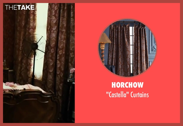 Horchow curtains from The Great Gatsby seen with Isla Fisher (Myrtle Wilson)