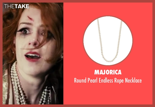 Majorica white necklace from The Great Gatsby seen with Isla Fisher (Myrtle Wilson)