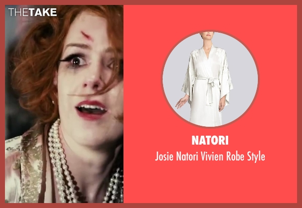 Natori white style from The Great Gatsby seen with Isla Fisher (Myrtle Wilson)