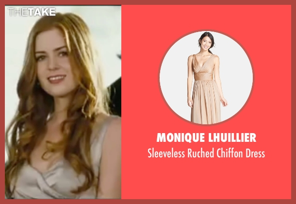 Monique Lhuillier  beige dress from Wedding Crashers seen with Isla Fisher (Gloria Cleary)